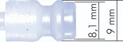 Kupplungsdosen NW 5 aus POM/PVDF mit Schlauchanschluss