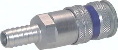 Kupplungsdosen NW 7,2 mit Schlauchtülle, Aluminium