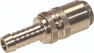 Kupplungsdosen 9 mm Zapfen, gerade Schlauchtülle, PN 15