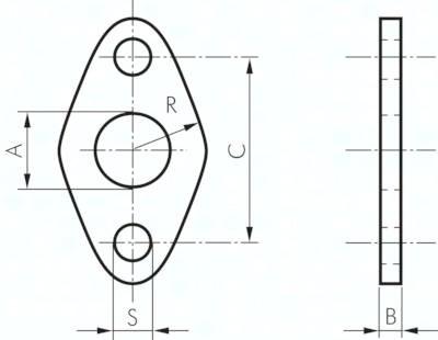 Flanschbefestigungen, für Kleinzylinder ISO 6432