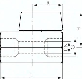 Edelstahl-Mini-Kugelhähne mit Knebelgriff einseitig, PN 25