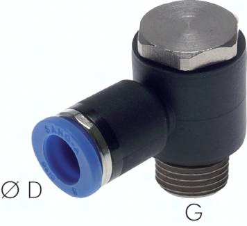 L-Steckverschraubungen mit zylindrischem Gewinde und Außensechskant