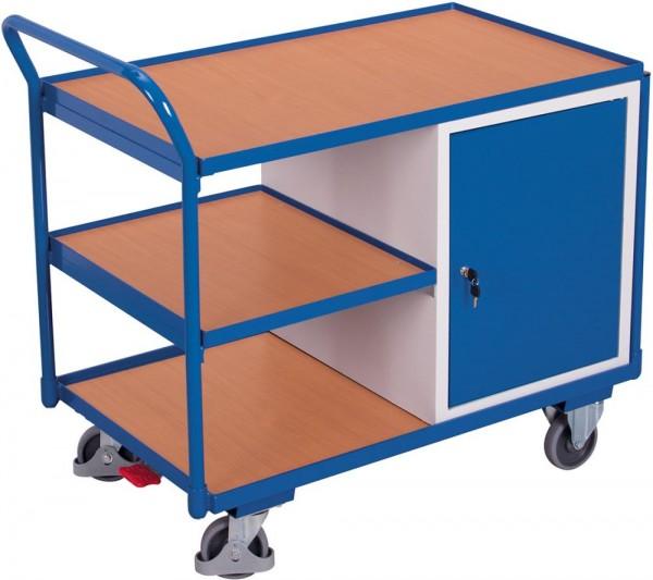 Tischwagen mit verschließbarem Stahlschrank