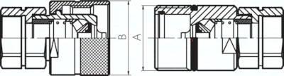 Edelstahl-Schnellverschluss-Schraubkupplungen mit Innengewinde