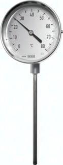 Bimetallthermometer senkrecht ohne Schutzrohr, 18 mm Bund, Klasse 1.0