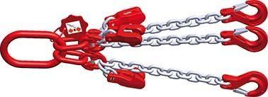 Dreistrang-Kettengehänge mit verzinkter Kette