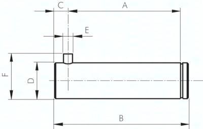 Bolzen zu sphärischer Lasche, für Zylinder ISO 15552