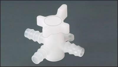 3-Wege-Schlauchventile (T-Stellung) aus PVDF, PN 1