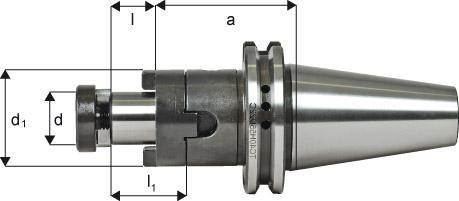Kombi-Aufsteckfräsdorn DIN 69871