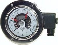Edelstahl-Sicherheits-Kontaktmanometer waagerecht Ø 100 mm, Klasse 1.0