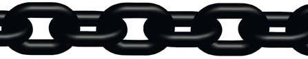 Anschlagkette nach EN 818-2, schwarz lackiertes Metall