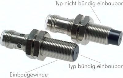 Induktive Näherungsschalter, M 8 / M 12 / M 18