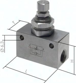 Edelstahl-Drosselrückschlagventile / Drosselventil, ECO-Line