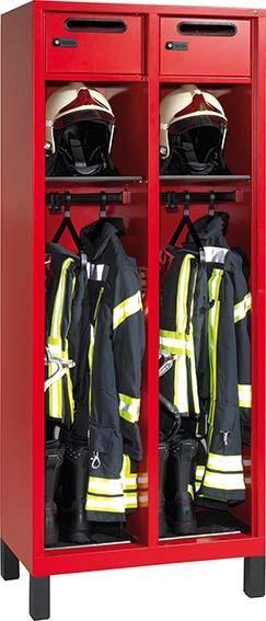 Feuerwehrgarderobenschrank (Ausführung 2) ohne Wertfach