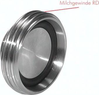 Blindgewindestutzen für Kegelstutzen (Milchgewinde) DIN 11851