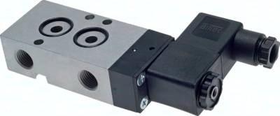 5/2- und 3/2-Wege-Magnetventile mit Federrückstellung und Lochbild nach NAMUR
