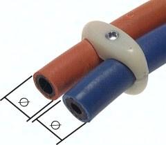 Doppelschlauchklemme für Gas-/ Sauerstoffschlauch