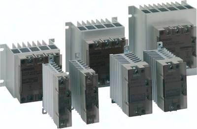 Leistungs-Halbleiterrelais mit integriertem Kühlkörper für DIN-Schiene