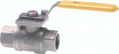 Edelstahl-Kugelhähne 2-teilig, DVGW geprüft (PN 5/MOP 5), bis 100 bar