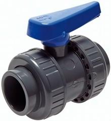 Klebemuffen-Kugelhähne PVC-U Wasserausführung, PN 16/10