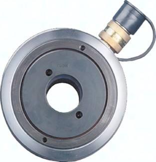 Einfachwirkende Hohlkolbenzylinder mit Federrückzug, 10-100 Tonnen Hubkraft