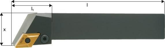 ISO-Klemmhalter 93° PDJNR/L