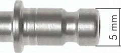 Kupplungsstecker NW 2,7 mit Schottgewinde und Schlauchtülle