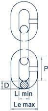 Anschlagkette nach EN 818-2, galvanisch verzinkt