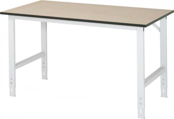 Höhenverstellbarer Arbeitstisch (760-1080 mm) mit Funktionsunterbau Tom, MDF-Platte