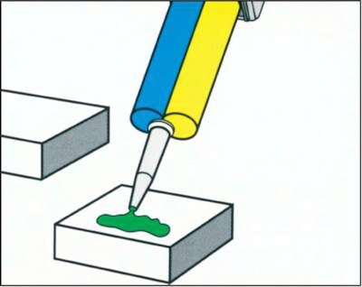 Loxeal 2-Komponenten-Klebstoffe in Doppelkartusche
