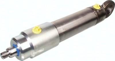 Hydraulikzylinder Typ HDG, doppeltwirkend mit Gelenkkopf am Zylinderboden