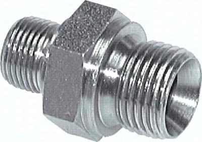 Doppelnippel mit Zollgewinde (60° Universaldichtkegel), bis 400 bar