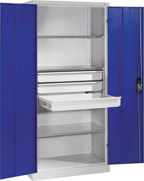 Großraum - Werkzeugschrank, Korpus RAL 7035 / Türen RAL 5010