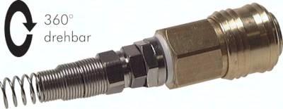 Kupplungsdosen NW 7,2 mit Überwurfmutter und Knickschutz