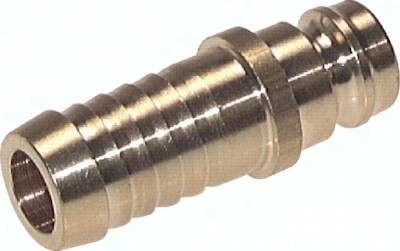 Kupplungsstecker 13 mm Zapfen, gerade Schlauchtülle ohne Ventil, PN 15
