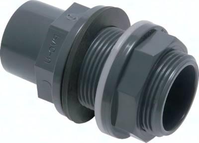 Klebe-Schottverschraubungen (Behälteranschluss) PVC-U, PN 10