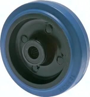 Elastik-Vollgummirollen - Räder, 100-350 kg