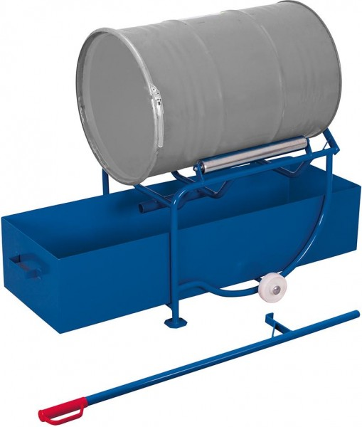 Fasskipper für 200 l Fässer mit großer Auffangwanne