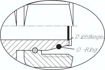 Einstellbare L-Anschlussverschraubungen mit Dichtkegel und O-Ring