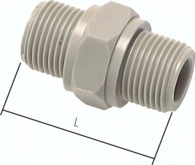 Doppelnippel mit zylindrischem Gewinde, PN 10