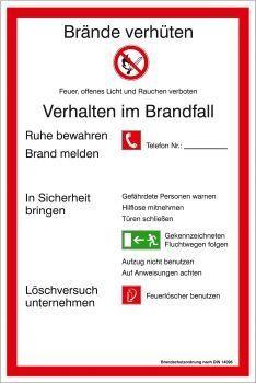 Brandschutzordnung BRD und Landkreis München, EverGlow® langnachleuchtend