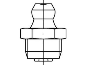 DIN 71412 A Kegelschmiernippel, kurz, mit Sechskant, Kegelkopf gerade/axial, mit Rohrgewinde, galv. verzinkt