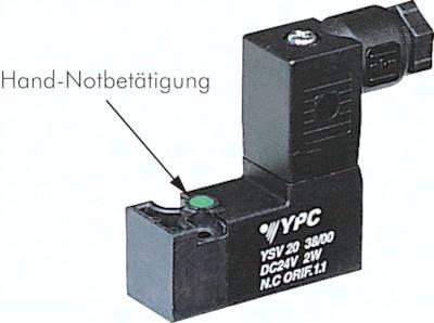 3/2-Wege-Magnetventile mit Federrückstellung, Baureihe YSV20