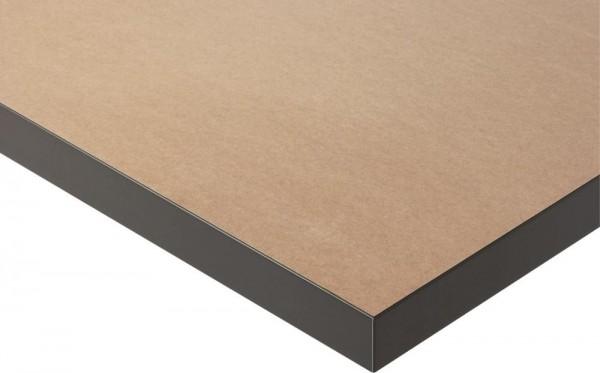 Höhenverstellbarer Arbeitstisch (800-850 mm) mit Funktionsunterbau Jerry, MDF-Platte