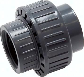 Gewindeverschraubungen, Innengewinde PVC-U (nur für Kunststoffgewinde), PN 16