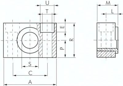 Lagerböcke zur Mittenschwenkbefestigung, für Zylinder ISO 15552