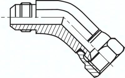 Einschraubwinkel 45° mit JIC-Gewinde, bis 310 bar
