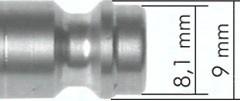 Kupplungsstecker NW 5 mit Schottgewinde und Schlauchtülle